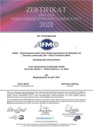AFMO Zertifikat